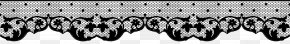 Deco Lace Transparent Clip Art Image - Black And White Font Pattern PNG