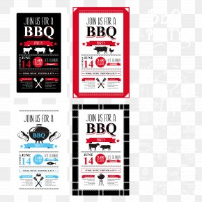 Vector BBQ Grill Menu Design - Barbecue Menu Cafe Party PNG