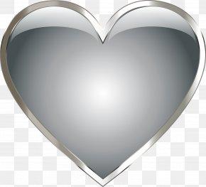 Heart Pendant - Stainless Steel Metal Heart Clip Art PNG