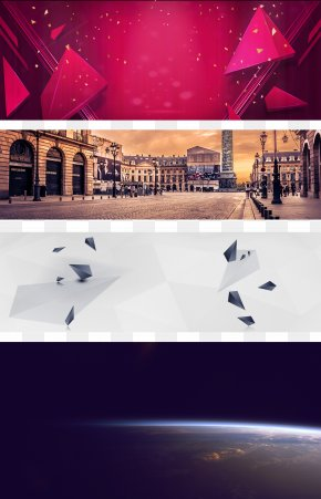 Geometric Star Building Taobao Poster Background - Poster Download Wallpaper PNG