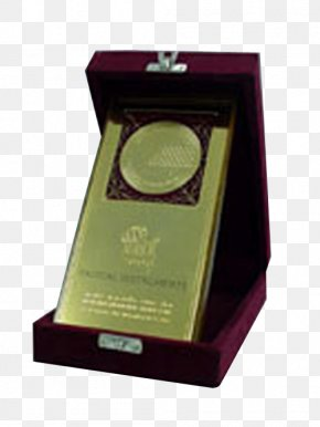 Hexagon Award Holder - Gold Medal Award Profile Projector Trophy PNG
