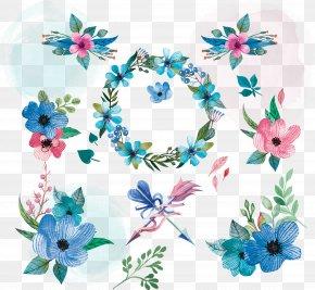 Watercolor Floral Pattern - Flower Floral Design Clip Art PNG
