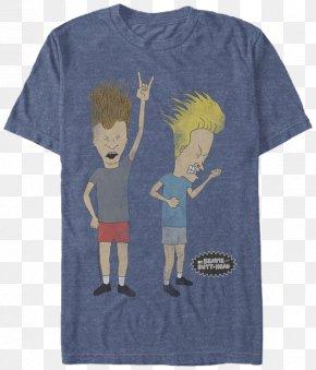 T-shirt - T-shirt Beavis Butt-head Headbanging PNG