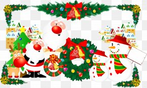 Christmas Tree - Illustration Christmas Tree Santa Claus Christmas Day Vector Graphics PNG