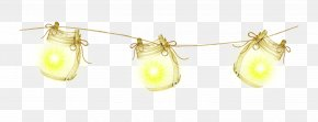 Beautiful Lamps - Earring Yellow Body Piercing Jewellery PNG
