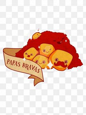 Patatas Bravas - Patatas Bravas Spanish Omelette French Fries Potato Drawing PNG