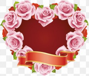 Rose - Rose Flower Heart Valentine's Day PNG