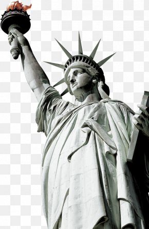 Green Simple Statue Of Liberty Decorative Patterns - Statue Of Liberty New York Harbor Eiffel Tower Landmark PNG