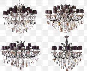 Brown Crystal Lamp In Kind Promotion - Chandelier Lighting Lamp PNG