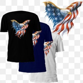 United States - Flag Of The United States T-shirt Bald Eagle Independence Day PNG