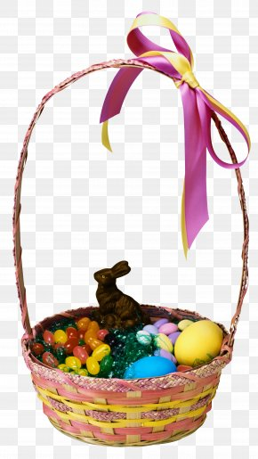 Transparent Easter Basket And Bunny Clipart Picture - Easter Bunny Easter Basket PNG