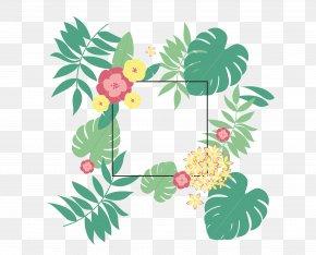 Leaves Flowers Decorative Patterns Summer Background - Summer Leaf Euclidean Vector Typeface PNG
