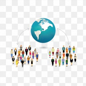Earth And People - Euclidean Vector People Clip Art PNG