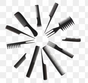 Creative Circle With Comb - Comb Brush Beauty Parlour Afro Hair Care PNG