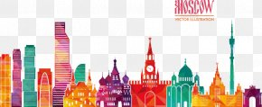 Vector Illustration Moscow City - Free Vector Royalty-free Euclidean Vector Illustration PNG