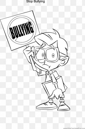 Coloring Page Bullying In Schools - National Bullying Prevention Month Stop Bullying: Speak Up Anti-Bullying Week School Bullying PNG
