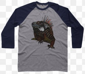 Iguana - Long-sleeved T-shirt Raglan Sleeve PNG