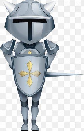 Vector Cartoon Knight - Knight Cartoon Body Armor Illustration PNG