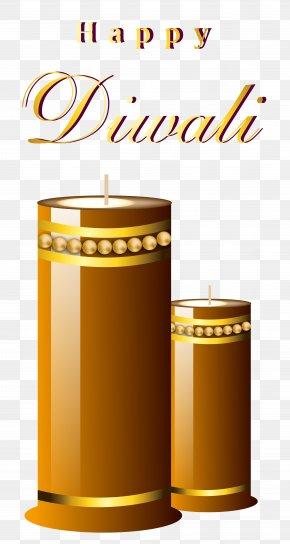 Beautiful Happy Diwali Candles Image - Diwali Candle Diya Clip Art PNG