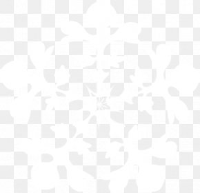 Black White - Snowflake Winter Christmas PNG