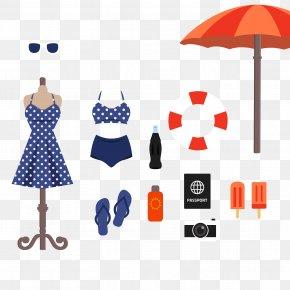 11 Models Beach Vacation Essentials Vector Material - Beach Summer Seaside Resort PNG