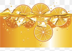 Orange Flavored Soda Bing Bing Cool Illustrations - Orange Juice Soft Drink Soda Bubble PNG