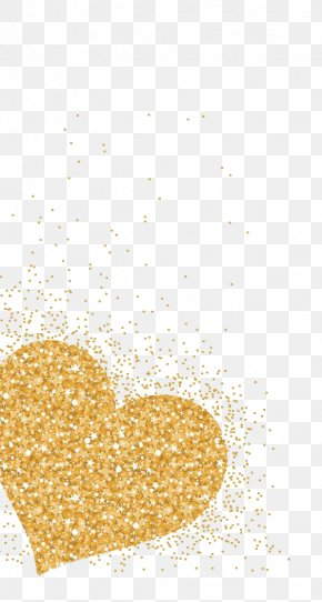Loving Type Gold - Heart Wallpaper Group Gold Wallpaper PNG
