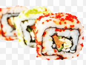 Sushi Image - Sushi Japanese Cuisine California Roll Seafood PNG