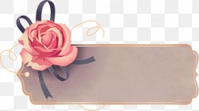 Vector Hand-painted Roses Tag - Icon PNG