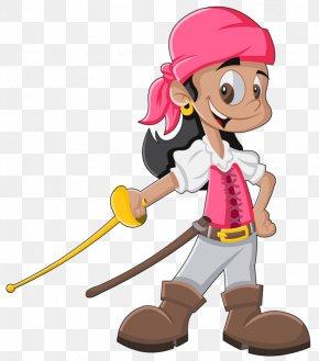 Sword Child - Piracy Cartoon Drawing Illustration PNG