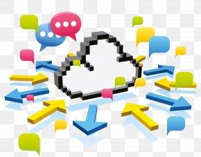 Cloud Data Transmission - Cloud Computing Computer Network PNG