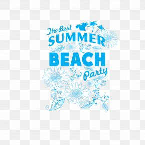 Beach Party Art Word Vector - Party Beach Typeface PNG