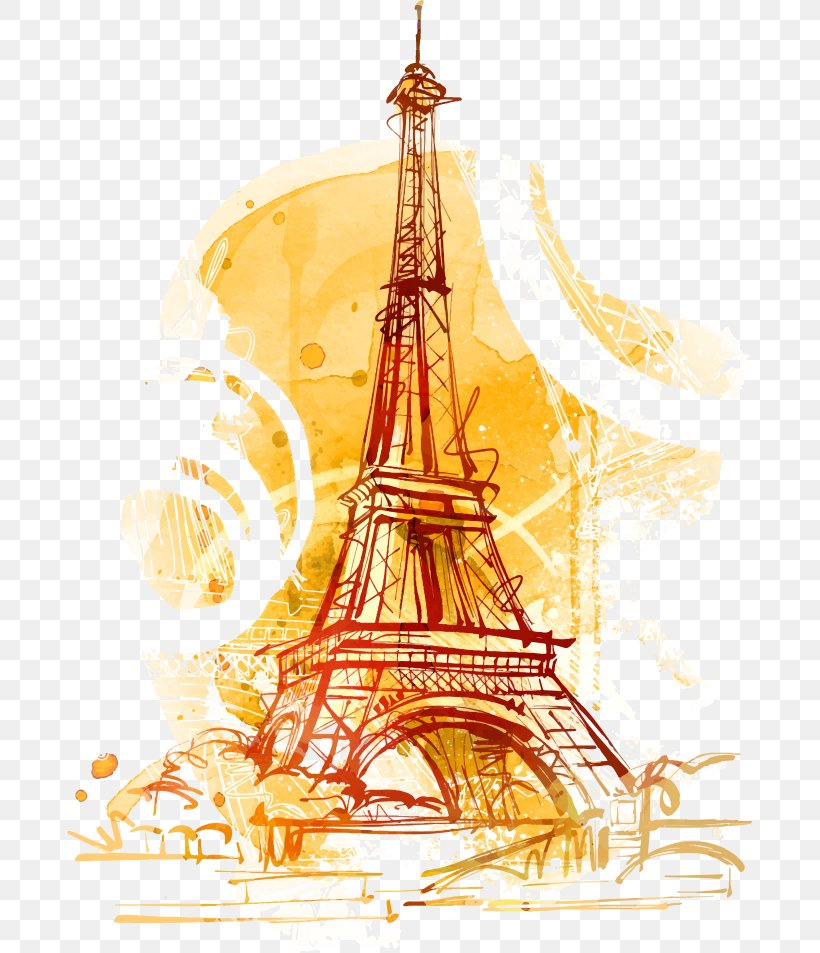 Statue Of Liberty Eiffel Tower Arc De Triomphe Chrysler Building Illustration, PNG, 685x953px, Statue Of Liberty, Arc De Triomphe, Cartoon, Chrysler Building, Eiffel Tower Download Free