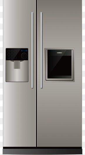 Refrigerator - Refrigerator Home Appliance Clip Art PNG