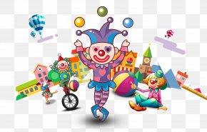 Circus Clown - Circus Juggling Clown Performance PNG