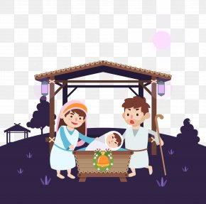 Jesus' Birth - Nativity Of Jesus Birth Illustration PNG