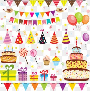 Vector Birthday Elements - Party Birthday Cartoon Royalty-free PNG
