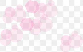 Hand Painted Pink Circle Hexagon - Petal Beauty Wallpaper PNG