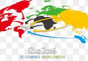 Rio Olympics Material - 2016 Summer Olympics Rio De Janeiro World Map PNG