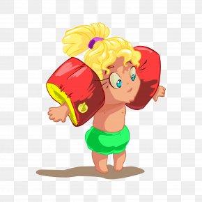 Illustrator Of Children - Beach Cartoon Child Clip Art PNG
