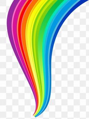Rainbow Line Transparent Clipart - Rainbow Clip Art PNG