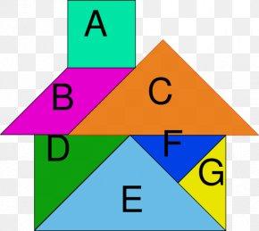Mathematics - Tangram Puzzle Geometric Shape Mathematics PNG