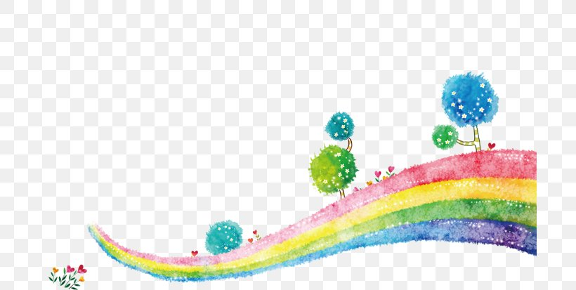 Rainbow Euclidean Vector, PNG, 709x413px, Rainbow, Color, Drawing, Painting, Rainbow Bridge Download Free