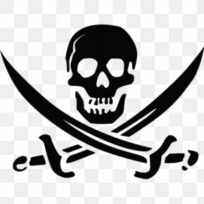 Skull - Skull And Crossbones Jolly Roger Piracy Image PNG