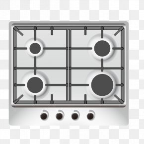 Gas Stove Black And White Image - Home Appliance Kitchen Gas Stove Icon PNG