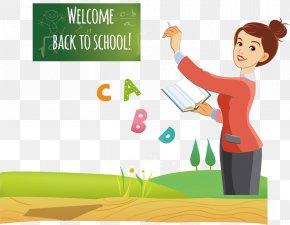 Pretty Teacher - Teacher Cartoon PNG