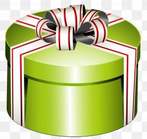 Green Present Cliparts - Gift Decorative Box Clip Art PNG