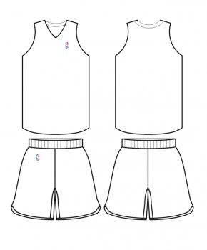 Jersey Template - NBA Template Basketball Uniform Jersey PNG