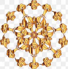 Gold Pattern - Floral Design Flower Pattern PNG
