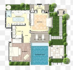Plan - Melati Beach Resort & Spa Swimming Pool House Plan Villa PNG